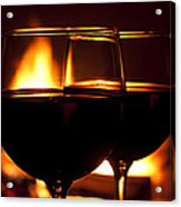 Drinks By The Fire Acrylic Print