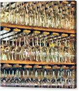 Drinks On The House In Smoky Gold Acrylic Print