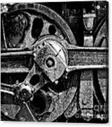 Drive Wheel - 190 - Bw Acrylic Print