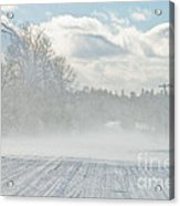Driving In The Snow Acrylic Print