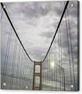 Driving The Mackinac Bridge  Acrylic Print