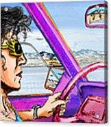 Driving Through Arizona Acrylic Print