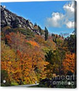 Driving Through Autumn's Beauty   Acrylic Print