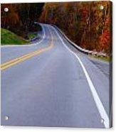 Driving Through Fall Acrylic Print