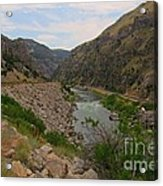 Driving Through Wind River Canyon Acrylic Print