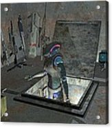 Droid Discovering A Weapons Cache Acrylic Print