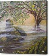 Druid's Altar At Mystic River Acrylic Print