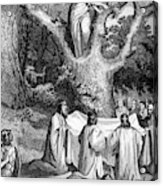 Druids Worshipping Acrylic Print