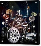 Drum Machine - The Band's Engine Acrylic Print by Alessandro Della Pietra