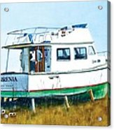 Dry Docked Cabin Cruiser Acrylic Print