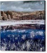 Dry Lagoon Blues Acrylic Print