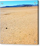 Dry Soil In Death Valley - Color Acrylic Print