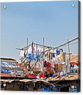 Drying Clothes Indian Style Acrylic Print