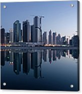 Dubai Business Bay Skyline With Acrylic Print
