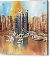 Dubai Marina Complex Acrylic Print