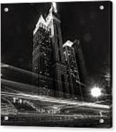 Dubai Night Street Rush Acrylic Print
