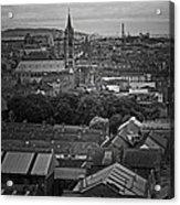 Dublin Ireland Cityscape Bw Acrylic Print