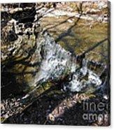 Dublin Ohio Waterfall In Spring 1 Acrylic Print