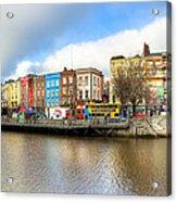 Dublin River Liffey Panorama Acrylic Print by Mark E Tisdale