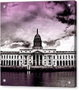 Dublin - The Custom House - Lilac Acrylic Print