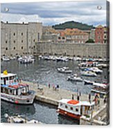 Dubrovnik Old Harbour Acrylic Print