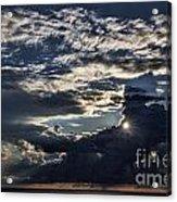 Dubrovnik Sunset Starburst Acrylic Print