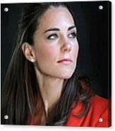 Duchess Of Cambridge Acrylic Print by Martin Bailey