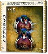 Duck Stamp Art Acrylic Print