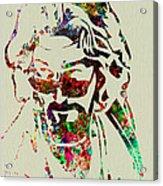 Dude Acrylic Print by Naxart Studio
