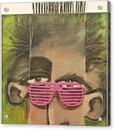 Dude With Pink Sunglasses Acrylic Print