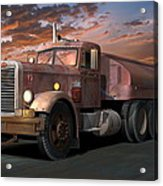 Duel Truck With Trailer Acrylic Print by Stuart Swartz