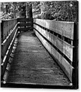 Dukes Creek Falls Walkway Acrylic Print