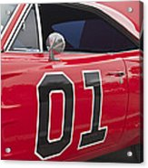 Dukes Of Hazard General Lee Acrylic Print
