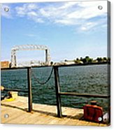 Duluth Docks Acrylic Print by Danielle  Broussard