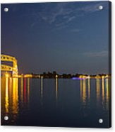 Duluth Harbor At Night Acrylic Print