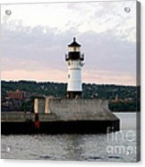 Duluth Mn Lighthouse Skyline Acrylic Print