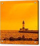 Duluth N Pier Lighthouse 41 A Acrylic Print