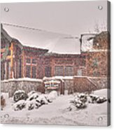 Duluth Winter Blackwoods Grill Acrylic Print