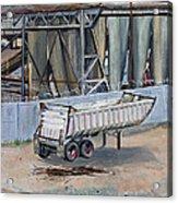 Dump Truck Bin And Steel Mill Acrylic Print