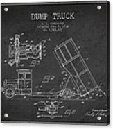 Dump Truck Patent Drawing From 1934 Acrylic Print