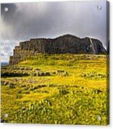 Dun Aonghasa - Iron Age Irish Ruins Acrylic Print by Mark E Tisdale