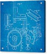 Duncan Addressing Machine Patent Art 1896 Blueprint Acrylic Print