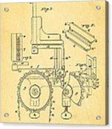 Duncan Addressing Machine Patent Art 1896 Acrylic Print