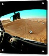 Dune Bashing In The Empty Quarter Acrylic Print