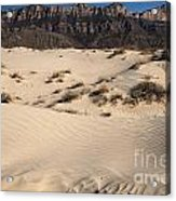 Dunes At The Guadalupes Acrylic Print