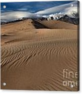 Dunes Ripples And Clouds Acrylic Print