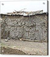Dung Huts Of The Masai Acrylic Print