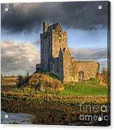 Dunguaire Castle With Dramatic Sky Kinvara Galway Ireland Acrylic Print