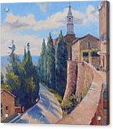 Duomo Pienza Acrylic Print