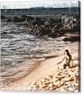 Duotone Beach Scene Acrylic Print